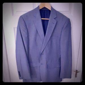 Jones New York sport coat 38R blue chambray